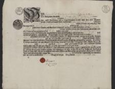 Świadectwo ukończenia praktyki wydane przez Cech Garbarzy (czerwonoskórników) w Prudniku na nazwisko Wawrzyniec Staneck
