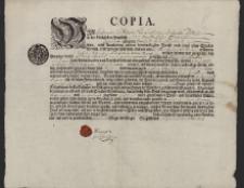 Kopia świadectwa ukończenia praktyki wydana przez Cech Garbarzy (czerwonoskórników) w Prudniku na nazwisko Wawrzyniec Staneck