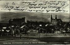 Otmuchów : panorama miasta z widokiem na Góry Opawskie
