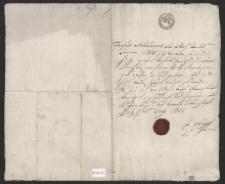 Metryka: Józej Menzler ur. 21.01.1805 r. w Białej Prudnickiej