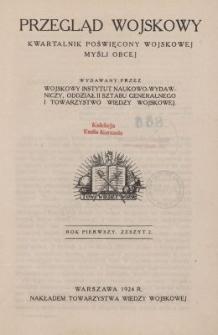 Przegląd Wojskowy : kwartalnik poświęcony wojskowej myśli obcej, z. 2
