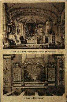 Goworowice : wnętrze kościoła pw. Nawiedzenia NMP