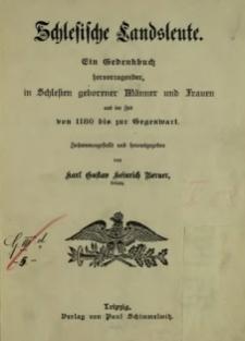 Schlesische Landsleute : ein Gedenkbuch hervorragender in Schlesien geborener Männer und Frauen aus der Zeit von 1180 bis zur Gegenwart