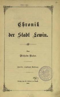 Chronik der Stadt Lewin