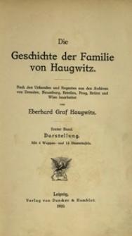 Die Geschichte der Familie von Haugwitz : nach den Urkunden und Regesten aus den Archiven von Dresden, Naumburg, Breslau