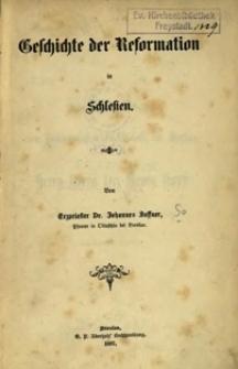 Geschichte der Reformation in Schlesien
