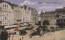 Lwów : Plac Halicki i ulica Wałowa