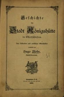 Geschichte der Stadt Königshütte in Oberschlesien