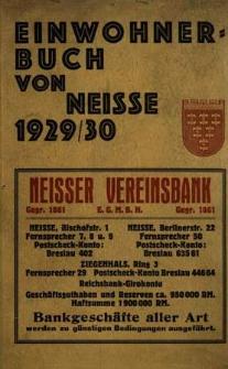 Stadt Neisse : Einwohnerbuch 1929/30