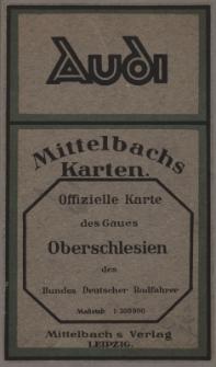Offizielle Gaukarte Gau 34 Glatz-Neisse und Gau 35 Oberschlesien