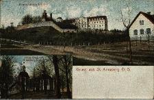 Góra Świętej Anny : widok na klasztor i kalwarię