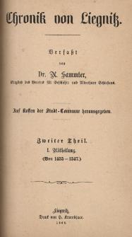 Chronik von Liegnitz. Tl. 2