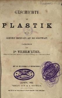 Geschichte der Plastik : von den ältesten Zeiten bis auf die Gegenwart