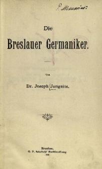 Die Breslauer Germaniker
