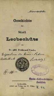 Geschichte der Stadt Leobschütz