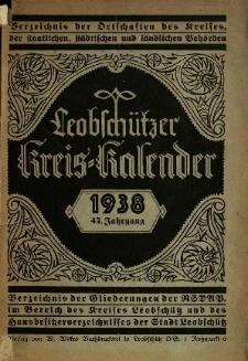Leobschützer Kreis-Kalender 1938