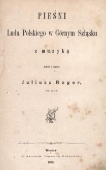 Pieśni ludu polskiego w Górnym Szląsku