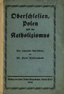 Oberschlesien, Polen und der Katholizismus