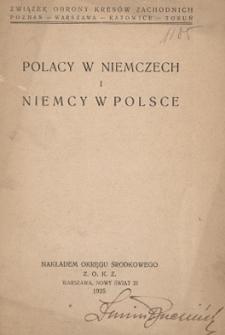 Polacy w Niemczech i Niemcy w Polsce