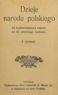 Dzieje narodu polskiego : od najdawniejszych czasów aż do ostatniego rozbioru