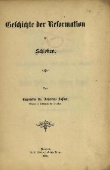 Geschichte der Reformation in Schlesien. Fasc. 2