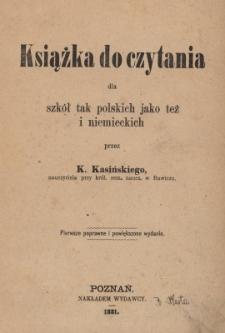 Książka do czytania dla szkół tak polskich jako też i niemieckich