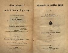 Elementarwerk der polnischen Sprache. Tl. 1. Grammatik der polnischen Sprache