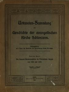 Die General-Kirchenvisitation im Fürstentume Liegnitz von 1654 und 1655 : Protokolle und Beilagen
