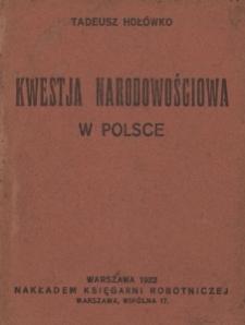 Kwestja narodowościowa w Polsce