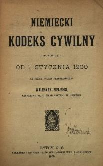 Niemiecki kodeks cywilny obowiązujący od 1 stycznia 1900