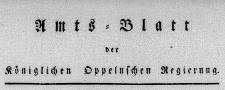 Amtsblatt der Königlichen Oppelnschen Regierung 1816, Stück 32