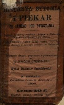 Historya Bytomia i Piekar od samego ich powstania