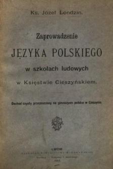 Zaprowadzenie języka polskiego w szkołach ludowych w Księstwie Cieszyńskiem
