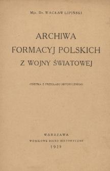 Archiwa formacyj polskich z wojny światowej