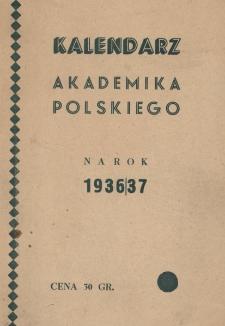 Kalendarz Akademika Polskiego na rok 1936/37