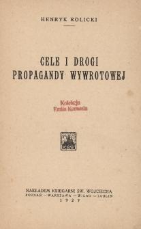 Cele i drogi propagandy wywrotowej