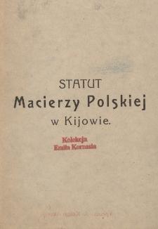 Statut Macierzy Polskiej w Kijowie