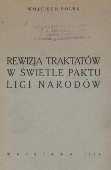 Rewizja traktatów w świetle paktu Ligi Narodów