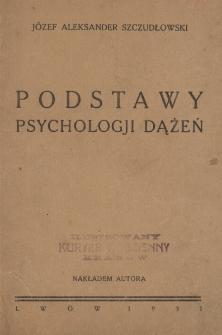 Podstawy psychologji dążeń