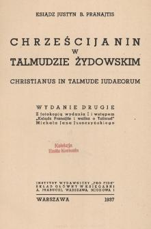 Chrześcijanin w Talmudzie Żydowskim