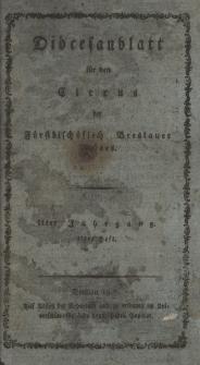 Diöcesenblatt für den Clerus der Fürstbischöflichen Breslauer Diöces. IIter Jg, IItes H.