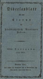Diöcesenblatt für den Clerus der Fürstbischöflichen Breslauer Diöces. IIIter Jg, IItes H.