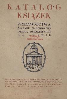 Katalog książek Wydawnictwa Zakładu Narodowego imienia Ossolińskich we Lwowie