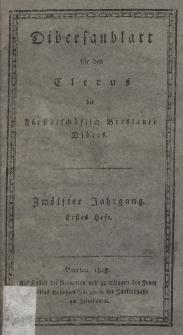 Diöcesenblatt für den Clerus der Fürstbischöflichen Breslauer Diöces. XIIter Jg, Ites H.