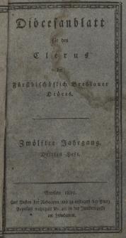 Diöcesenblatt für den Clerus der Fürstbischöflichen Breslauer Diöces. XIIter Jg, IIItes H.