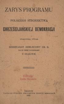 Zarys programu Polskiego Stronnictwa Chrześcijańskiej Demokracji
