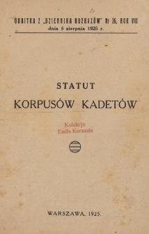 Statut Korpusów Kadetów