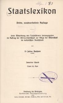 Staatslexikon. Bd. 2, Eltern-Kant