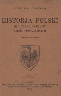 Historja Polski dla trzeciej klasy szkół powszechnych : podręcznik dla nauczyciela