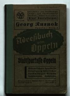 Adressbuch der Stadt Oppeln : Ausgabe 1937